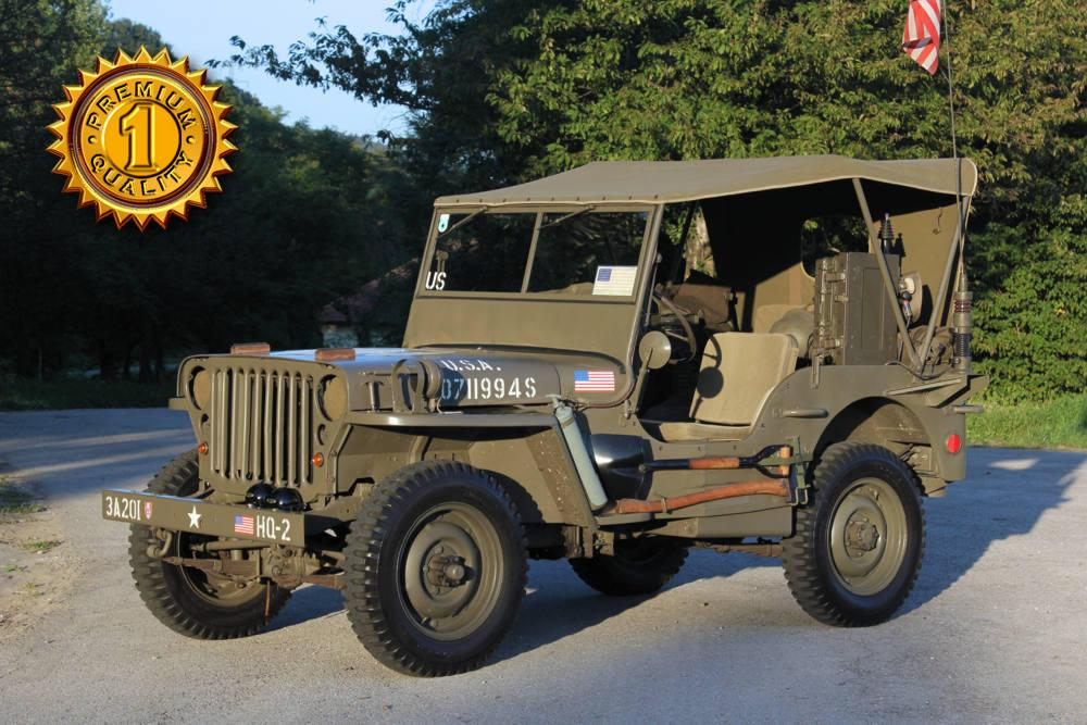 galerie willys overland jeep mb mit anh nger 1945. Black Bedroom Furniture Sets. Home Design Ideas